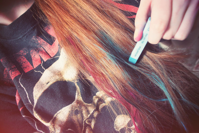 Haar Tutorial Dip Dye Pastel Hair Tea Twigs