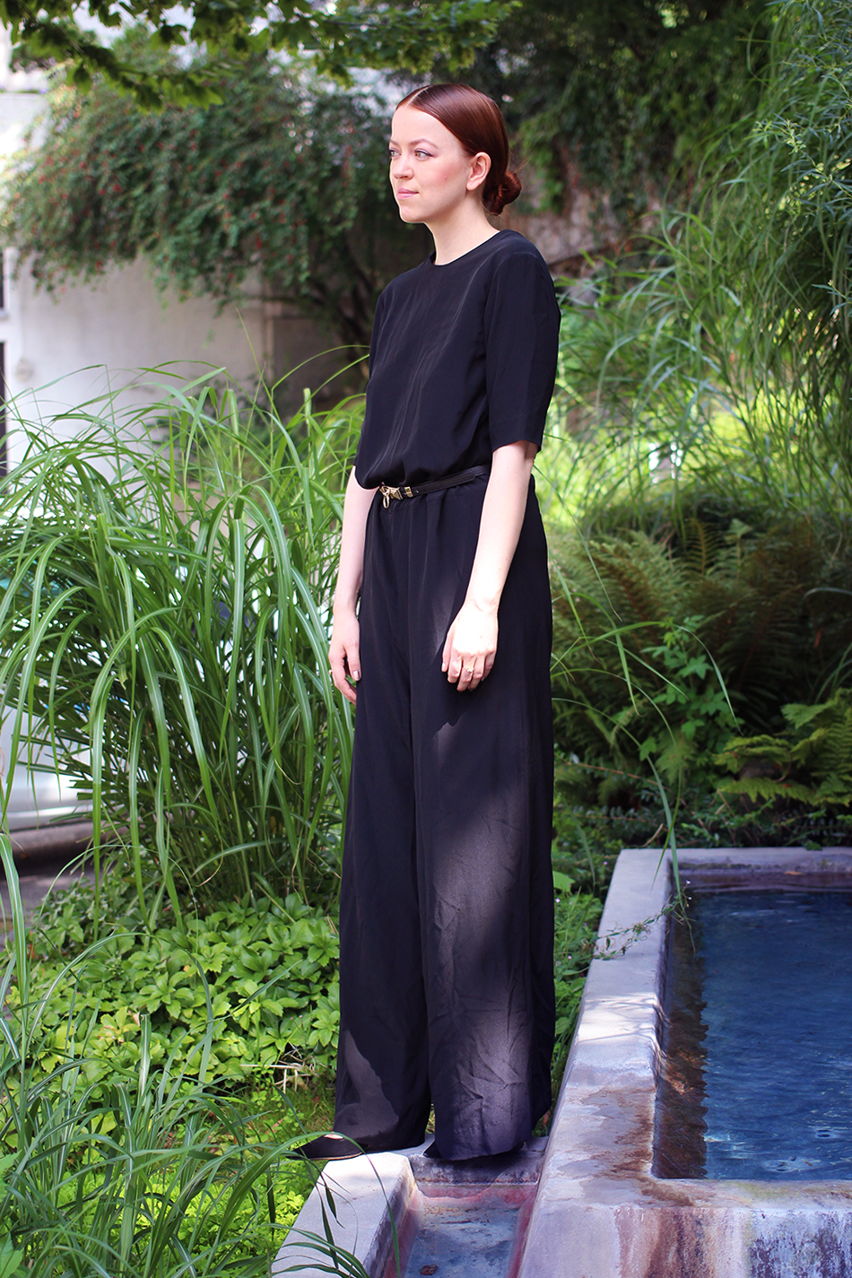 All Black Jumpsuit by COS