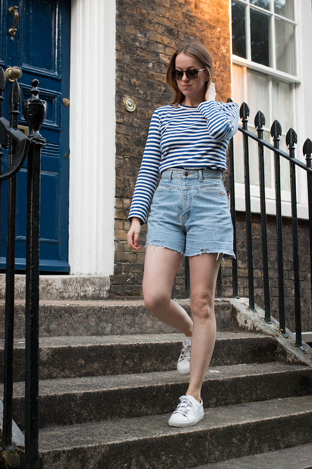 Last days of summer in London | wearing Vintage Jeans Shorts